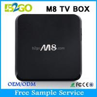 2015 Hot Selling dreambox 800 hd se clone M8 AMLogic S802 Quad Core 2.0GHz 2g 8g 8GB Nand Flash 4K google smart tv box