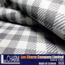 Houndstooth Check Fabric 60% Tencel 40% Cotton Blend