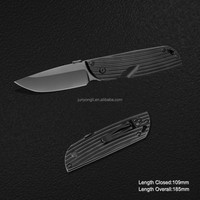 440 - 8CR13 Stainless Steel Folding Knife with Anodized Aluminum handle