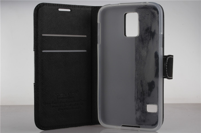 luxury leather case for samsung s5 case cover