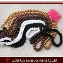 Polypropylene filament material fake hair braids for african american girl dolls 5 color in stock