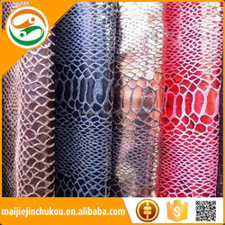 1.0--2.0mm Bag Leather Microfiber Snakeskin Pu Faux Leather Fabric For Handbag