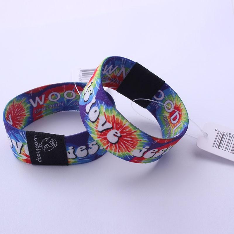2016 un-emploi du temps personnalisé verrou à glissière bracelet/tissu festival bracelet/polyester bracelet pour événements Chine