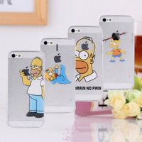 top fasion Transparent TPU soft shell cover 8 case simpsons the homer simpson gasp logo Foriphone 5 5s 5G