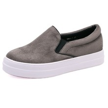 China factory wholesale Suede leather women fashion sneakers