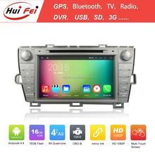 Huifei Android4.4.4 Quad Core touch screen car stereo for Toyota Prius(Left driving) with mirror link,GPS,Radio function