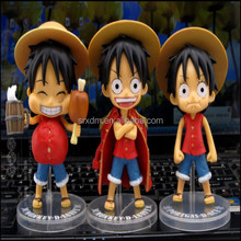 hot anime one piece action figure,factory anime action figure sets of 3pcs in china