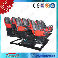 Exciting 5D equipment 6 dof electric/hydraulic 6d theatre simulator amusement ride with 12 special effects