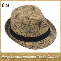 Custom made fedora straw hat wholesale selling straw boater hat