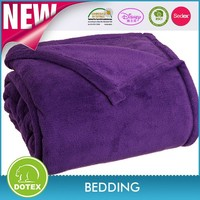 Made in china 100% polyester super warm and comfortable thick coral fleece throw and blankets