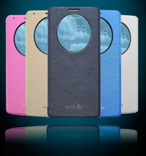 New Products NFC Window Quick Circle Flip Leather Case for LG G3