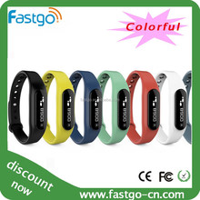 Colorful OLED Bluetooth Smart Healthy Bracelet Watch for IOS Android Mobile Cell Phone