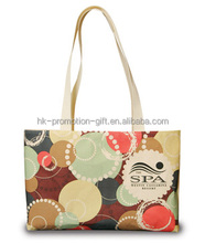 Give away custom cotton shopping bag with long handles