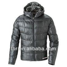 hombres de alta calidad ligero acolchado de down chaqueta con capucha montbell parka hacia abajo