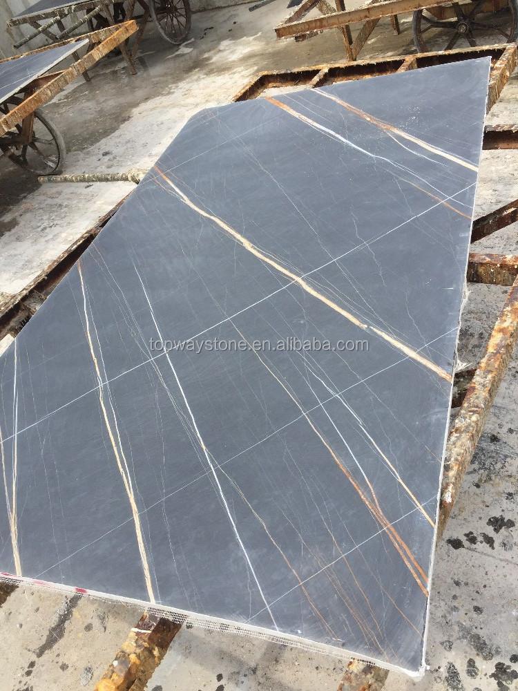 Granite Slabs For Photo Booth : Black marble slabs with golden line buy slab