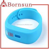 Promotional embossed silicone wristband