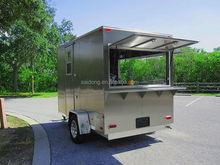 Mobile food concession trailer, Ice cream food caravan, Coffee food van