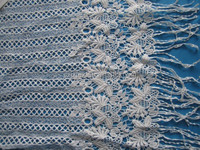 JX-E101 NCE DESIGN AND FASHION CHEMICAL LACE EMBROIDERY WITH FRINGES
