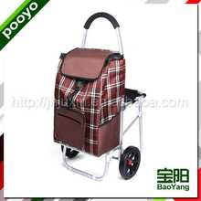 foldable shopping cart recycled polyester bamboo