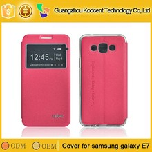 Guangzhou Top 10 supplier leather flip case for samsung galaxy e7
