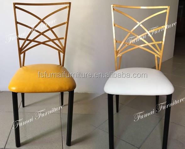 Высокое Качество современный утюг металлический каркас оптовая продажа свадебных стулья