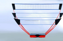 Three-in-one portable volleyball stand goal post.