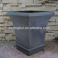 Curved Trapezoid Outdoor Modern Tree Pots