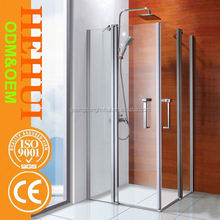 shower door frame parts and glass shower door with bathroom