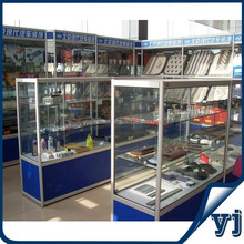 China manufacture made flat pack car accessories retail store display cabinet and showcase