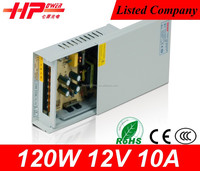 Guangzhou factory supplier rainproof series switching mode led power supply 120w 10 amp 12v ac to dc power supply