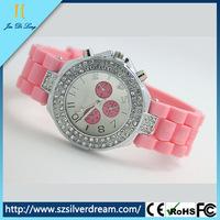Fashion diamond geneva watches women geneva quartz watches price