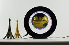 Round shape acrylic , anti-gravity floating levitating globe with 8pcs LED