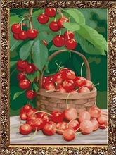 40*50cm still life fruit oil painting, fruit basket oil painting