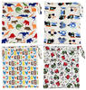 AnAnbay Machine And Minky Prints Baby Diaper Bags With Zipper