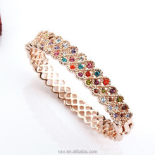 OUXI 1 gram gold bracelets tanishq design gold bangles 50043-2