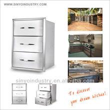 Bulnose Edge 3 Drawer Cabinet