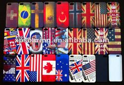Plastic cover case flag style cover for iphone 5