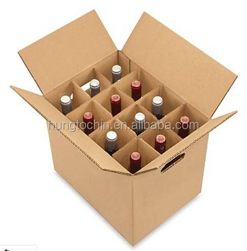 bo te en carton trois couche b fl te flexo bouteille de vin bo te en carton avec s parateur. Black Bedroom Furniture Sets. Home Design Ideas