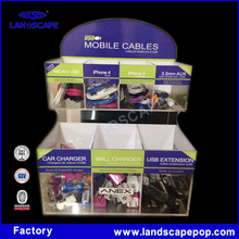 micro usb acrylic display box/mobile cables accessories display holder