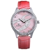 2014 Popular Leather Strap Shining Stone Decorated Womens Brand Watch