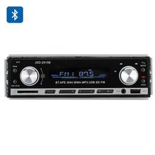 1 DIN Bluetooth Car Stereo - Aux USB + SD Card Support, MP3, WAV, WMA, FM, 4x 45W Speaker Support
