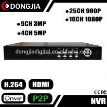 DONGJIA DJ-2025B 25ch 16ch onvif ip camera p2p network client software dvr h.264
