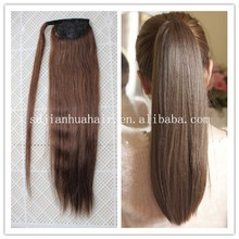 Hot sale ponytail natural hair extensions,claw clip ponytail human hair extension,blonde human hair ponytail