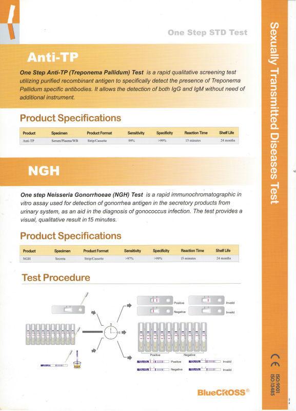 Diagnostic Test Kits One Step Anti Syphilis Rapid Test