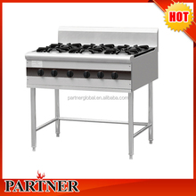 Chinese 6 burners gas cooking range , Commercial gas cooking range