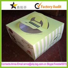 2015 Best price new design custom birthday paper cake box with handle