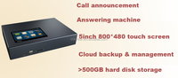 Cloud stand-alone telephone recorder with 500GB harddisk, 5inch high resolution touch screen, cloud backup & management
