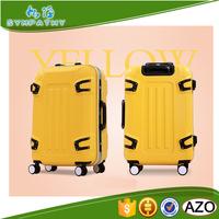 Aluminum Frame Plastic Cover 4 Wheels 100% PC Luggage