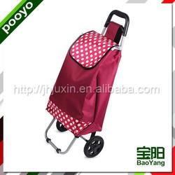 folding shopping trolley bag with wheels golf club rack