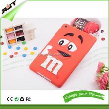 2015 fashion 3D Cute cartoon M&M Silicone Chocolate Beans Case cover for ipad mini 1/2/3